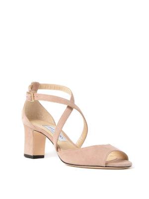 Jimmy Choo: sandals online - Carrie 65 ballet suede sandals