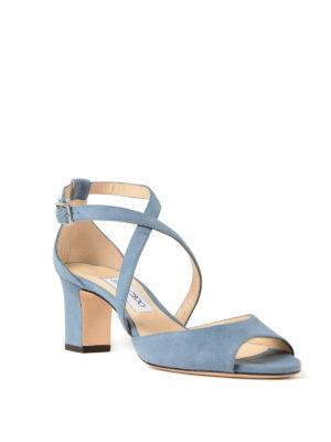 Jimmy Choo: sandals online - Carrie 65 dusk suede sandals