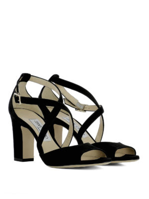 Jimmy Choo: sandals online - Carrie 85 suede sandals