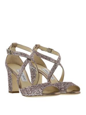 Jimmy Choo: sandals online - Carrie open toe glitter sandals