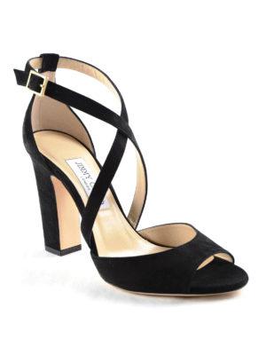 Jimmy Choo: sandals online - Carry elegant suede sandal