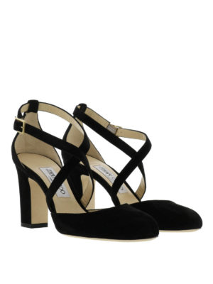 Jimmy Choo: sandals online - Cleo suede sandals