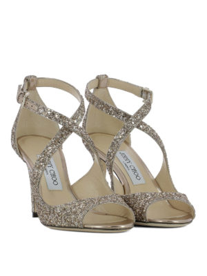 Jimmy Choo: sandals online - Emily 85 glitter sandals