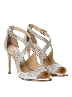 Jimmy Choo: sandals online - Emily glitter sandals