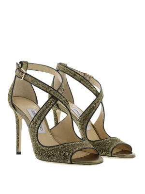 Jimmy Choo: sandals online - Emily glitter sandals