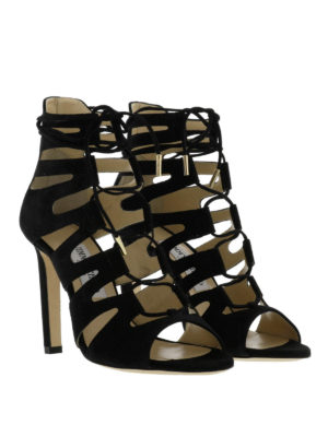 Jimmy Choo: sandals online - Hitch strappy suede sandals