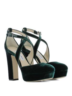 Jimmy Choo: sandals online - Joyce criss cross velvet sandals