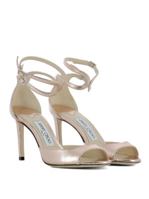 Jimmy Choo: sandals online - Lane 85 laminated leather sandals