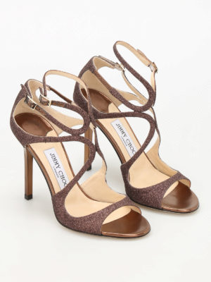 Jimmy Choo: sandals online - Lang glitter strappy sandals