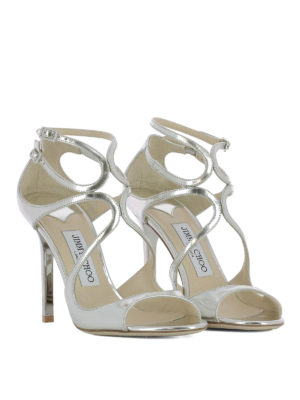 Jimmy Choo: sandals online - Lang mirror leather sandals