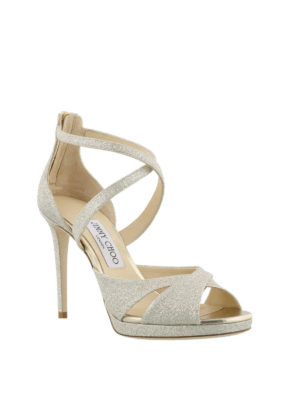 Jimmy Choo: sandals online - Lorina 100 glittered sandals