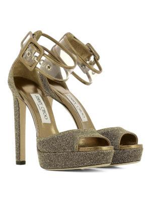 Jimmy Choo: sandals online - Mayner glitter platform sandals