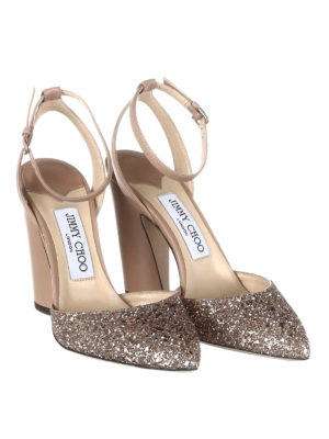Jimmy Choo: sandals online - Micky 100 glitter toe sandals