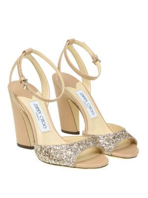Jimmy Choo: sandals online - Miranda 100 glitter band sandals