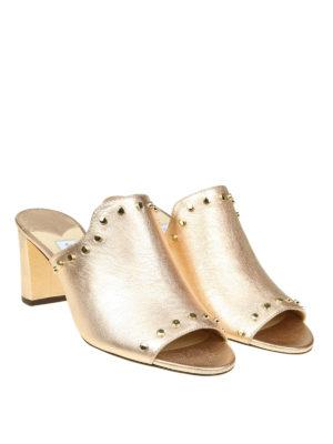 Jimmy Choo: sandals online - Myla 65 metallic nappa sandals