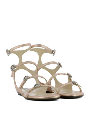 Jimmy Choo: sandals online - Naia laminated leather sandals