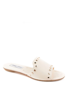 Jimmy Choo: sandals online - Nanda studded leather sliders