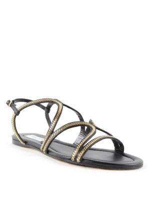 Jimmy Choo: sandals online - Nickel Flat sandals with chain