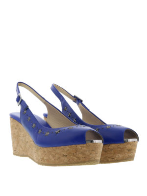 Jimmy Choo: sandals online - Praise cork and leather wedges