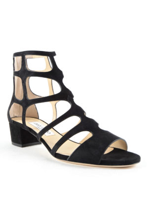 Jimmy Choo: sandals online - Ren 35 suede cage sandals