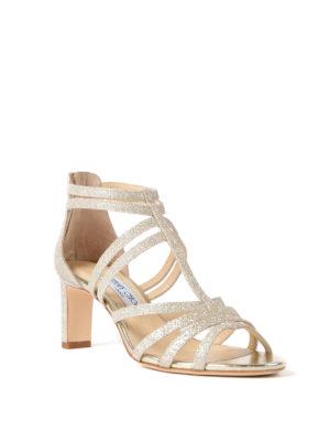 Jimmy Choo: sandals online - Selina 65 dusty glitter sandals