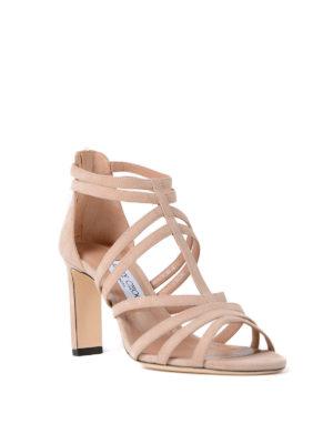 Jimmy Choo: sandals online - Selina 85 ballet suede sandals