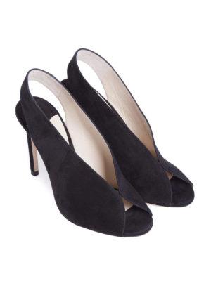 Jimmy Choo: sandals online - Shar 100 black suede sandals