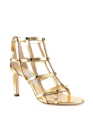 Jimmy Choo: sandals online - Tina metallic leather sandals
