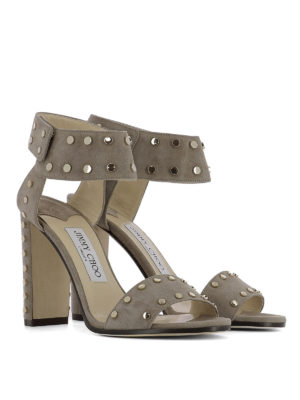 Jimmy Choo: sandals online - Veto studded suede sandals