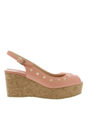 Jimmy Choo: sandals - Praise cork and leather wedges