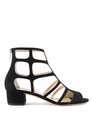 Jimmy Choo: sandals - Ren 35 suede cage sandals