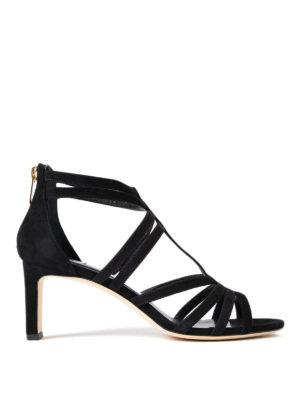 Jimmy Choo: sandals - Selina 65 black suede sandals