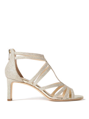Jimmy Choo: sandals - Selina 65 dusty glitter sandals