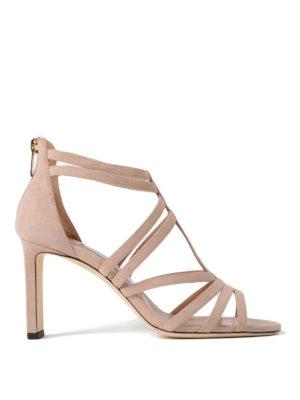 Jimmy Choo: sandals - Selina 85 ballet suede sandals