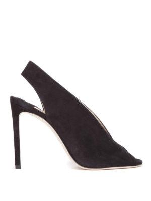Jimmy Choo: sandals - Shar 100 black suede sandals