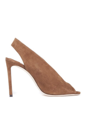 Jimmy Choo: sandals - Shar 100 cacao suede sandals