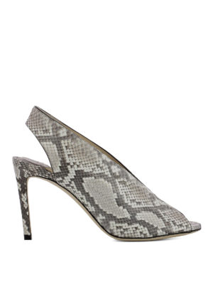 Jimmy Choo: sandals - Shar 85 open toe python pumps