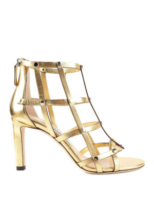 Jimmy Choo: sandals - Tina metallic leather sandals