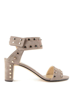 Jimmy Choo: sandals - Veto 65 studded suede sandals