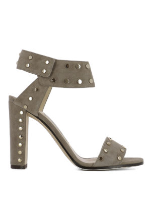 Jimmy Choo: sandals - Veto studded suede sandals