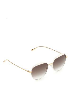 Jimmy Choo: sunglasses - Ello micro studded sunglasses