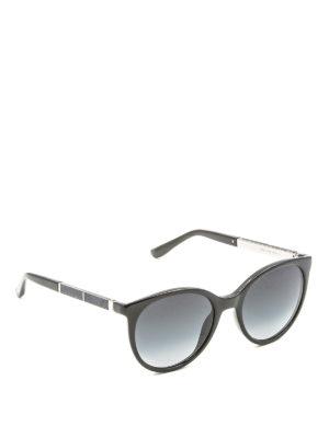 Jimmy Choo: sunglasses - Erie sunglasses with plexi glitter