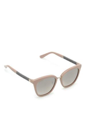 Jimmy Choo: sunglasses - Fabry glittered arms sunglasses