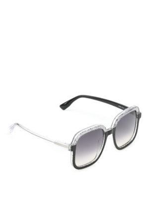 Jimmy Choo: sunglasses - Glint glittered sunglasses
