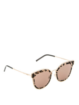 Jimmy Choo: sunglasses - Niles haircalf cat eye sunglasses