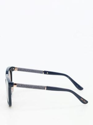Jimmy Choo: sunglasses online - Fabry glittered arms sunglasses