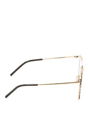Jimmy Choo: sunglasses online - Niles haircalf cat eye sunglasses