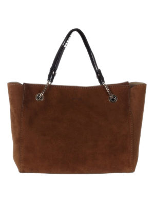 Jimmy Choo: totes bags - Flo suede tote