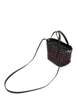 Jimmy Choo: totes bags - Mini Sara tote with fuchsia stars