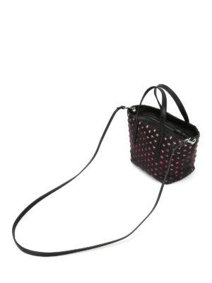 Jimmy Choo: totes bags - Mini Sara tote with fuchsia stars
